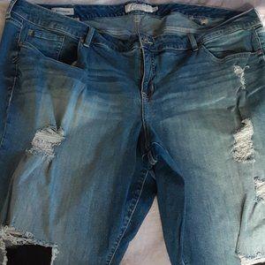 Torrid Jeans Distressed Blue Denim Womens 26